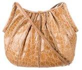 Judith Leiber Crocodile Shoulder Bag