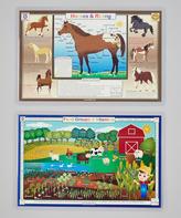 Health & Horses Activity Place Mat Set