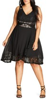 City Chic Plus Size Women's Seduction Fit & Flare Dress