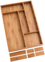 Lipper Bamboo Adjustable Drawer Organizer