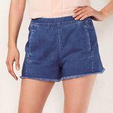 Lauren Conrad Women's Frayed High Waist Jean Shorts