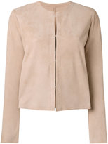 Drome collarless jacket - women - Goat Suede - S