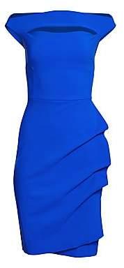 Chiara Boni Women's Melania Short Off-The-Shoulder Dress
