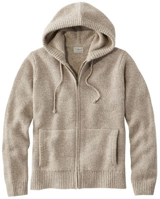 L.L. Bean Men's L.L.Bean Classic Ragg Wool Sweater, Zip Hoodie