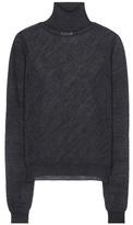 Acne Studios Taci Sheer Alpaca-blend Turtleneck Sweater