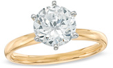 Zales 3 CT. Certified Diamond Solitaire Engagement Ring in 14K Gold (J/I2)