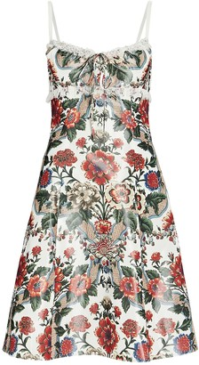 Brock Collection Floral Taffeta Mini Dress