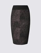 M&S Collection Ponte Panel Pencil Midi Skirt