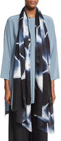 eskandar Hand-Dyed Shibori Silk Scarf