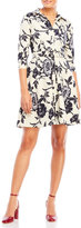 Samantha Sung Printed Belted Shirtdress