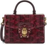 Dolce & Gabbana Lucia Snakeskin Leather Box Top Handle Bag