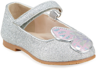 Sophia Webster Girl's Butterfly Glitter Grip-Strap Flats, Baby/Toddlers