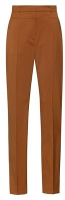 HUGO BOSS Regular-fit trousers in virgin wool with seaming details