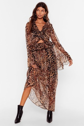 Nasty Gal Womens Purr-fect Timing Cut-Out Maxi Dress - Brown - L