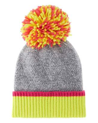 Simply Be Neon Large Knitted Pom Pom Hat