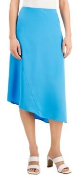 Alfani Asymmetrical Hem Midi Skirt, Created for Macy's