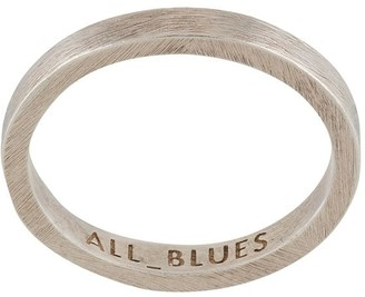 All Blues Engraved Flat Ring