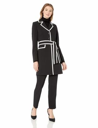 Le Suit LeSuit Women's 3 Button Notch Collar JKT W/TIE Belt and Matching Pant