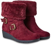 Joe Browns Bramble Walk Faux Fur Boots - Red