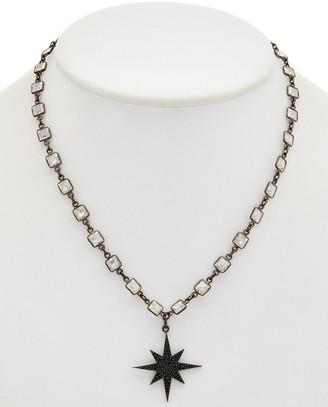 Rachel Reinhardt Silver Black Spinel & Cz Necklace