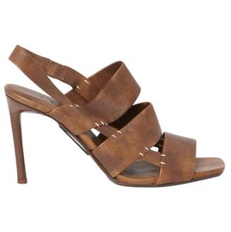 Celine Brown Leather Sandals