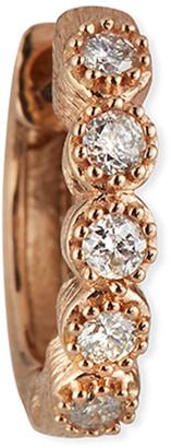Jude Frances 18K Petite Diamond Bezel Hoop Earring, Single