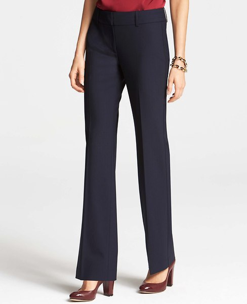 Ann Taylor Tall Signature Tropical Wool Pinstripe Trousers