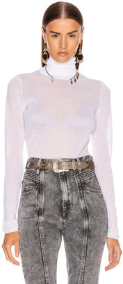 Isabel Marant Azale Knit Top in White | FWRD