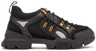 Gucci Flashtrek Leather Trainers - Mens - Black