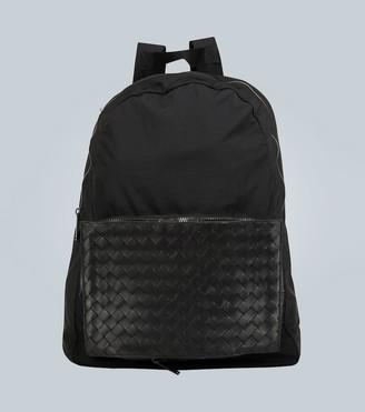 Bottega Veneta Backpack with intrecciato panel