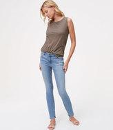 LOFT Modern Destructed Skinny Ankle Jeans in Juniper Wash