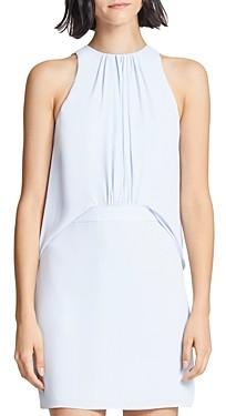 Halston Shirred-Front Dress