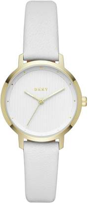 DKNY Ladies' Modernist NY2677 White Leather Strap Watch