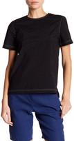 DKNY Contrast Topstich Short Sleeve Shirt