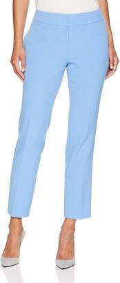 Kasper Women's Petite Stretch Crepe Solid Pant
