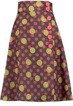 RED Valentino Polka-dot Shell Skirt