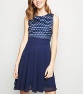 New Look Polka Dot Chiffon Dress