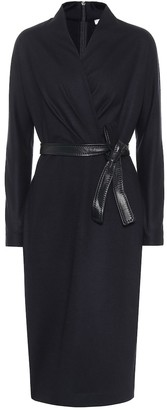 Max Mara Olimpia belted virgin wool midi dress