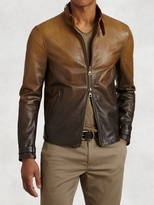 John Varvatos Gradient Lambskin Moto Jacket