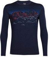 Icebreaker Men's Oasis LS Crewe Sky Night Graphic Baselayer