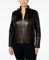 MICHAEL Michael Kors Size Leather Bomber Jacket