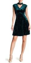 Gabby Skye Crushed Velvet Keyhole Dress