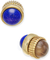 Marc by Marc Jacobs Gold-Tone Dual Stone Magnetic Reversible Stud Earrings