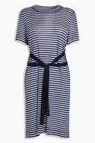 Next Womens Navy/White Tie Waist Tunic