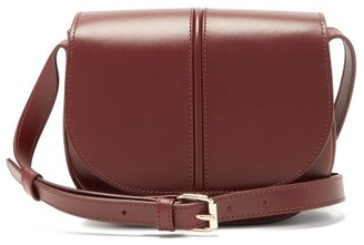 A.P.C. Betty Smooth Leather Cross-body Bag - Burgundy