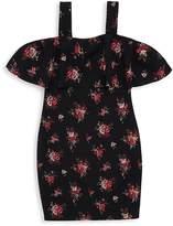 Un Deux Trois Girl's Floral Cold-Shoulder Dress
