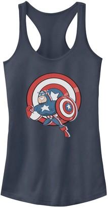 Marvel Juniors' Captain America Cartoon Style Tank Top
