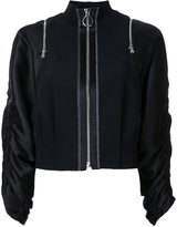 3.1 Phillip Lim zipped jacket - women - Spandex/Elastane/Acetate/Viscose - 4
