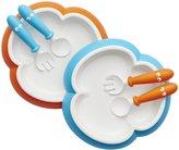 BABYBJÖRN Baby Plate, Spoon & Fork - Orange/Turquoise - 6 ct