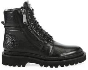 Balmain Men's Army Ranger Leather Combat Boots - Black - Size 46 (13)